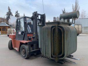 демонтаж трансформатора в подстанции