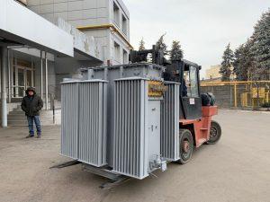 новый трансформатор ТМЗ-1000/10 установка в ТП